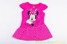 Disney Minnie Rövid Ujjú Pöttyös Ruha (Rózsaszín)(92cm, 104cm) UTOLSÓ DARABOK