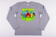 Angry Birds Hosszú Ujjú Póló (164cm, 13 év, Szürke) UTOLSÓ DARAB