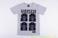 Star Wars Rövid Ujjú Póló (DARTH VADER)(122cm, 128cm, Szürke) UTOLSÓ DARABOK
