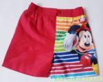 Disney Mickey Bermuda Nadrág / Rövidnadrág / Fürdőnadrág (Piros Csikos)