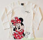 Disney Minnie Hosszú Ujjú Póló (Krém)