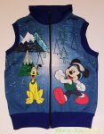 Disney Mickey Bolyhos Pamut Mellény (Kékek)