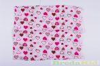 Mintás Textilpelenka (Szívecskés)(Fehér/Rózsaszín, Fehér/Lila) UTOLSÓ DARABOK