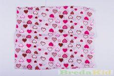 Mintás Textilpelenka (Szívecskés)(Fehér/Rózsaszín) UTOLSÓ DARAB