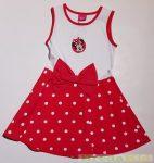 Disney Minnie Ujjatlan Nyári Ruha (Fehér/Piros, Egyszínű Piros)