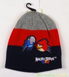 Angry Birds Kötött Sapka (52cm, 2-4 év, Szürke/Piros/Sötétkék) UTOLSÓ DARABOK