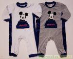 Disney Mickey Bébi Egybe Plüss Rugdalózó (Fehér, Szürke)