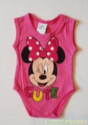Disney Minnie Bébi Ujjatlan Body (Cute)(62cm, 3 hó, Pink) UTOLSÓ DARAB