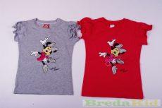Disney Minnie Rövid Ujjú Póló (Gumis Vállú)(Szürke, Pink, Fehér)