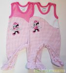 Disney Minnie Bébi Plüss Ujjatlan Rugdalózó (Pink, Fehér)