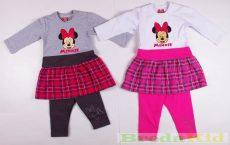 Disney Minnie Hosszú Ujjú Bolyhos KisRuha és Leggings Szett (80cm, 86cm, 122cm) UTOLSÓ DARABOK