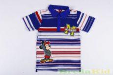 Disney Mickey Galléros Rövid Ujjú Póló (Kék Csíkos)(80cm, 110cm, 116cm) UTOLSÓ DARABOK