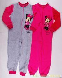 Disney Minnie Bébi Bolyhos Overál Pizsama (Szürke, Rózsaszín)(80cm, 86cm, 92cm)