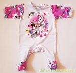 Disney Minnie Bébi Bolyhos Egybe Rugdalózó (Unikornis)(Fehér, Rózsaszín)