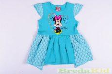 Disney Minnie Flitteres Hatású Rövid Ujjú Nyári Ruha (80cm, 92cm, 98cm, Zöld) UTOLSÓ DARABOK