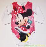 Disney Minnie Bébi Hosszú Ujjú Body (Karácsonyi)(Mikulás ruhás)