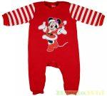 Disney Minnie Bébi Bolyhos Egybe Rugdalozó (Karácsonyi)
