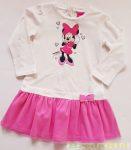 Disney Minnie Hosszú Ujjú Ruha (Fehér/Rózsaszín, Rózsaszín/Pink)
