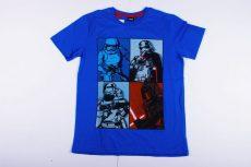 Star Wars Rövid Ujjú Póló (158cm, 164cm, Fehér, Kék) UTOLSÓ DARABOK
