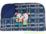 Disney Minnie & Mickey Unisex Pamut-Wellsoft Takaró (70X90cm)(Kockás, Egyszínű Sötétkék)(Karácsony)
