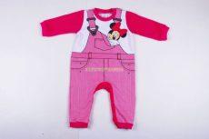 Disney Minnie Bébi Bolyhos Egybe Rugdalózó (Kantáros)(80cm, 1 év, lábfejnélküli) UTOLSÓ DARAB