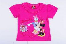 Disney Minnie és Daisy Kacsa Rövid Ujjú Póló (116cm, 5 év, Pink) UTOLSÓ DARAB