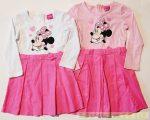 Disney Minnie Hosszú Ujjú Ruha (Alul Kord)(Fehér/Rózsaszín, Rózsaszín/Rózsaszín)