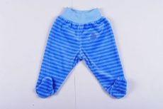 Fiú Bébi Plüss Talpas nadrág (Mackós)(68cm, 6 hó, Kék) UTOLSÓ DARAB