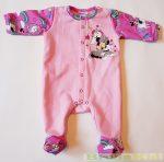 Disney Minnie Bébi Bolyhos Egybe Rugdalózó (Elöl Gombolós)(Unikornis)(Rózsaszín, Pink)(50cm, 56cm, 62cm) UTOLSÓ DARABOK