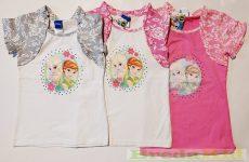 Disney Jégvarázs Csipkés Hatású Bolerós Rövid Ujjú Póló/Tunika (Szürke, Rózsaszín, Pink)