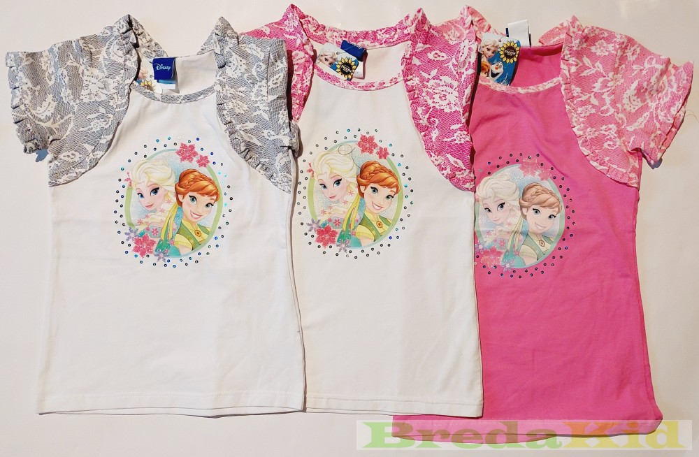 0d2a39ae69 Disney Jégvarázs Csipkés Hatású Bolerós Rövid Ujjú Póló/Tunika  (Fehér-Szürke, Fehér-Rózsaszín, Pink, Rózsaszín, Szürke-Rózsaszín)