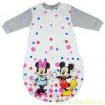 Disney Minnie & Mickey Bébi Egybe Vékony Hálózsák (Rózsaszín, Pink, Szürke) (Pöttyös) UTOLSÓ DARABOK