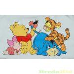 Disney Micimackó Unisex Gumis Pamut Lepedő (60X120cm, 70X140cm)(Sárga, Kék, Rózsaszín) UTOLSÓ DARABOK