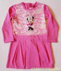 Disney Minnie Csipkés Hatású Hosszú Ujjú Ruha/Tunika (110cm, 4 év, rózsaszín) UTOLSÓ DARAB