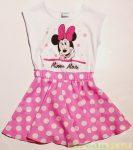 Disney Minnie Ujjatlan Pöttyös Nyári Ruha (Rózsa, Pink)