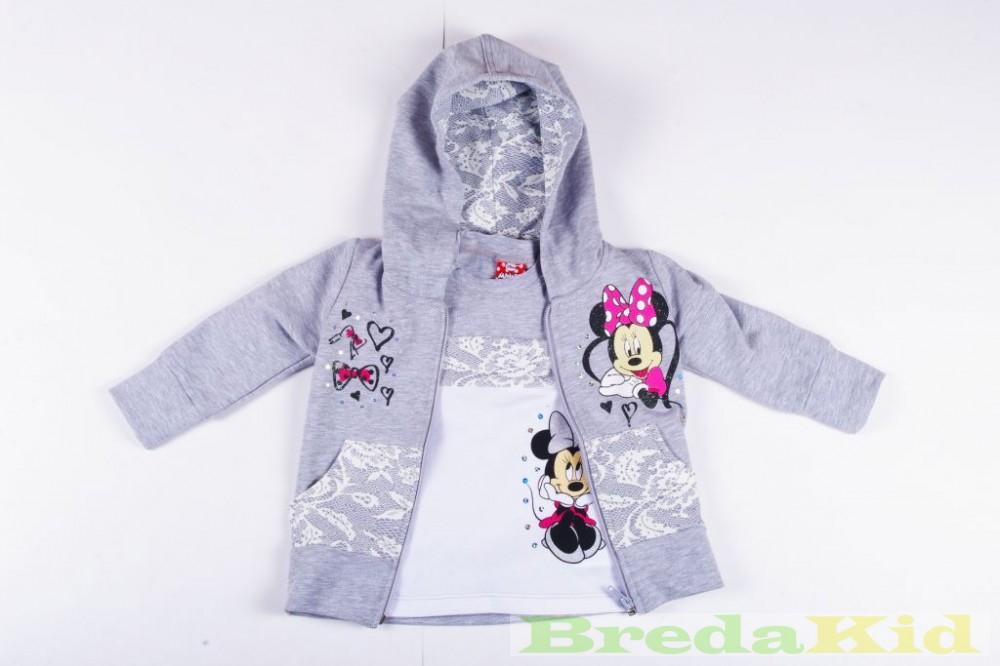 f86050b477 Disney Minnie Vékony Csipkés Hatású Cipzáras Kardigán és Hosszú Ujjú Póló  Szett (110cm, 116cm