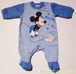 Disney Mickey Bébi Bolyhos Egybe Rugdalozó (Sünis)(Kék/Szürke, Fehér/Kék, Szürke/Középkék, Kék/középkék)
