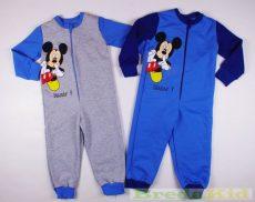 Disney Mickey Bolyhos Overál Pizsama (Szürke, Kék)