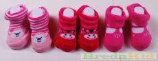 Lány Bébi Zokni Csomag (3db-os)(16-18)(2 sor (Pink, Csíkos Rózsaszín, Rózsaszín) UTOLSÓ DARAB