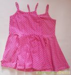 Lány Spagetti Pántos Pöttyös Ruha (Pink, Rózsaszín Pöttyös)