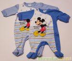 Disney Mickey Bébi Egybe Rugdalozó (Kék Csillagos)(Kékek, Szürke)