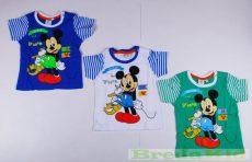 Disney Mickey Bébi Rövid Ujjú Póló (Csíkos)
