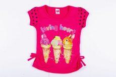 Lány Bébi Nyuszis Rövid Ujjú Póló (86cm, 1-1,5 év, Pink) UTOLSÓ DARAB