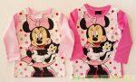 Disney Minnie Hosszú Ujjú Póló (Pöttyös)(Rózsaszín, Pink)