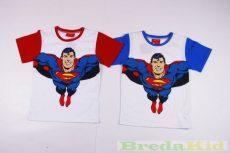 Superman Rövid Ujjú Póló (Piros, Kék)