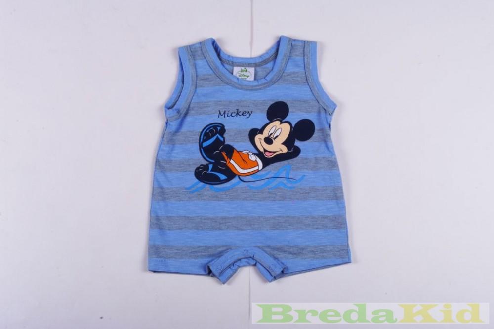 Disney Mickey Bébi Ujjatlan Napozó (Kék Csíkos)(56cm 2c933edd42