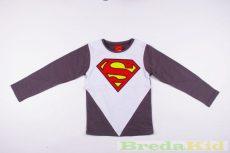 Superman Hosszú Ujjú Póló (Fehér/Kék, Fehér/Szürke, Fehér-Világosszürke)