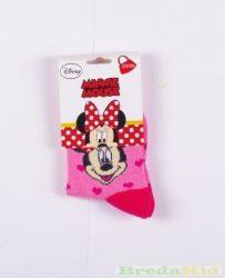 Disney Minnie Zokni (27/30cm, Rózsaszín Szívecskés) UTOLSÓ DARAB