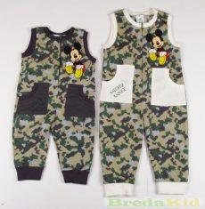 Disney Mickey Bébi Ujjatlan Terepmintás Rugdalozó (68cm, 74cm, 80cm) UTOLSÓ DARABOK