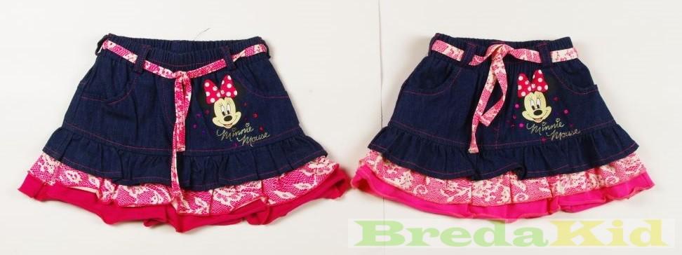 95a374435d Disney Minnie Csipkés Hatású Farmer Szoknya (Pink, Rózsaszín ...